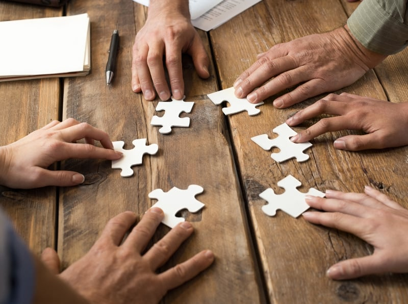 Partnerships Are Puzzles Carefully put together